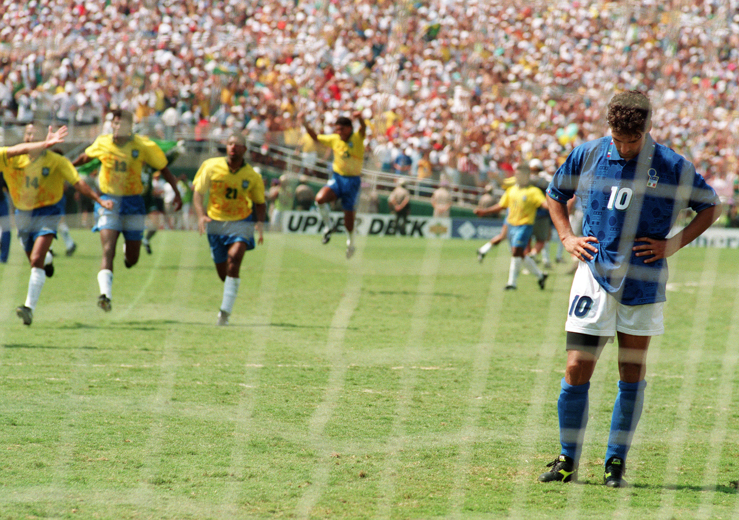 Brazil celebrate Baggio miss